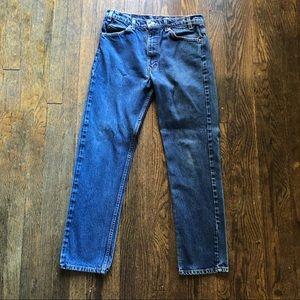 Levi's 505 Vintage Orange Tab Jeans